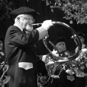 Norbert Breusch mit Kurpfälzer-Parforcehorn